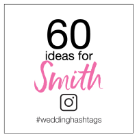 wedding hashtag ideas for smith