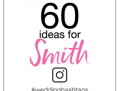 60 Wedding Hashtag Ideas for Smith
