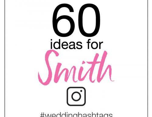 50 Fun Wedding Hashtags | Tag Along Lovely