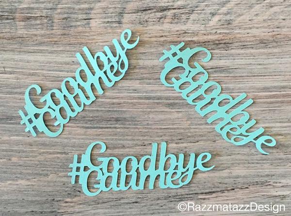 personalized hashtag confetti